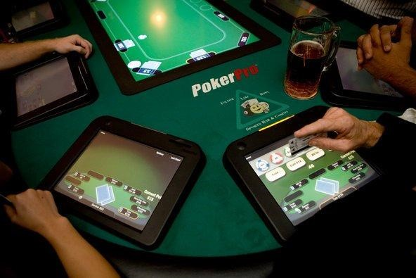 Caption: Online poker delivers the same excitement and intense competition as in-person games.