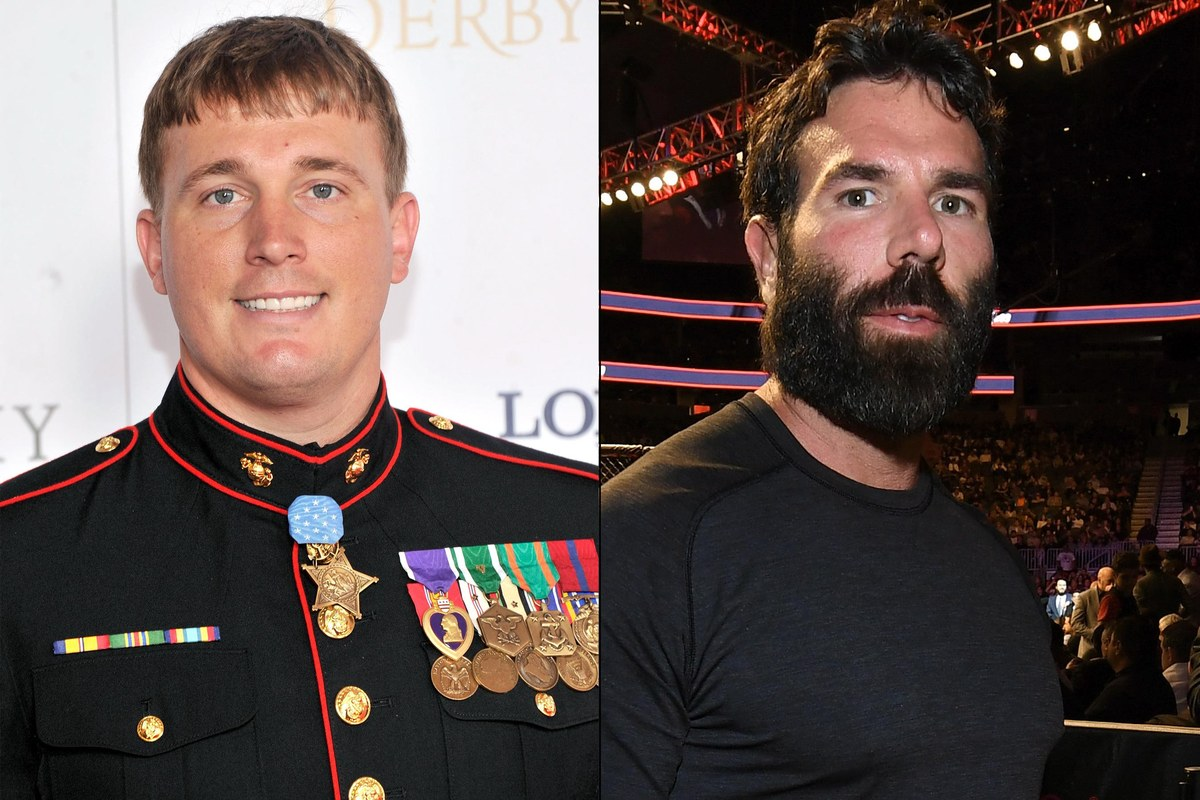 Dakota Meyer and Dan Bilzerian side by side.