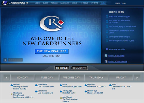 Cardrunners news design