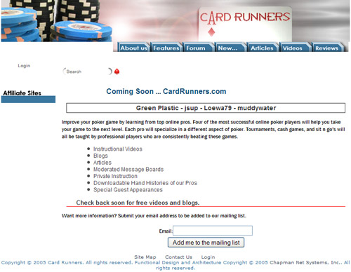 Old Cardrunners website
