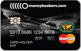 Moneybookers Mastercard