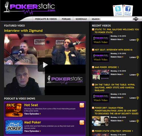 Poker Static website