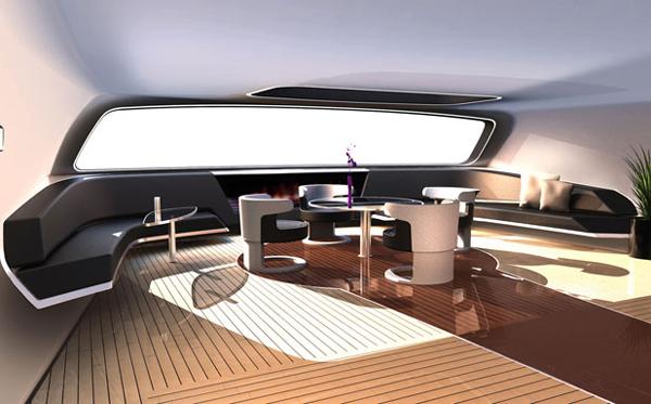 Porsche Yacht - Inside